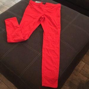 Red skinny super stretch pants